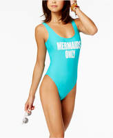 California Waves Mermaids Only Graphic One-Piece Swimsuit