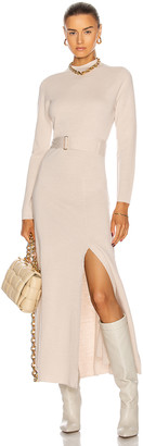 Nicholas Mock Neck Long Sleeve Dress in Winter White | FWRD
