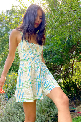 Urban Outfitters Tate Tie-Front Romper