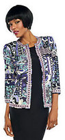Joan Rivers Classics Collection Joan Rivers Moroccan Flair Knit Jacket w/ 3/4 Sleeves