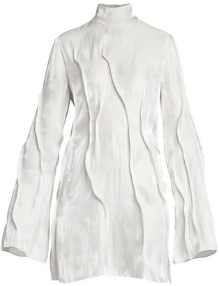 Kenzo Liquid Shine Wave Mini Dress