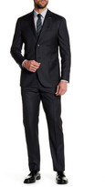 Michael Bastian Charcoal Woven Two Button Notch Lapel Wool Extra-Trim Fit Suit
