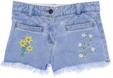 Stella McCartney Youth Girl's Marlin Embroidered Shorts