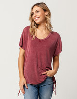 Mimichica MIMI CHICA Grommet Lace Up Womens Tee