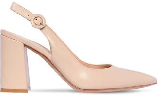 Gianvito Rossi 85mm Leather Sling Back Pumps