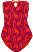 Eres Kawai Minako Printed Bandeau Swimsuit - Red