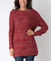 Yuka Paris Red Variegated Sweater
