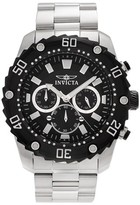 Invicta Men's 22516 Pro Diver Stainless Steel Chronograph Link Bracelet Watch - Silver/Black