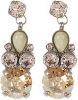 Sorrelli Round & Pear Crystal Drop Earrings