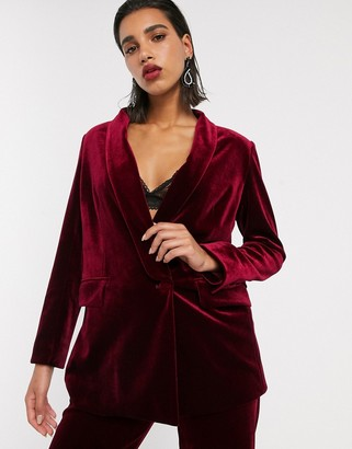 Asos Edition EDITION tailored blazer with shawl collar in velvet
