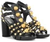 Balenciaga Giant embellished leather sandals