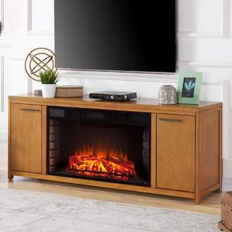 Latitude Run Jowers TV Stand for TVs up to 65 inches with Fireplace Included Latitude Run