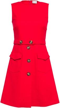 RED Valentino Flared Cotton-blend Twill Mini Dress