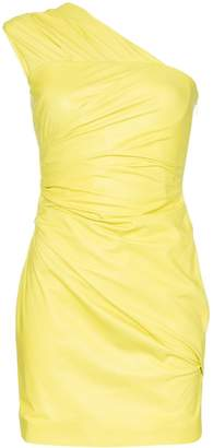 Versace one shoulder mini dress