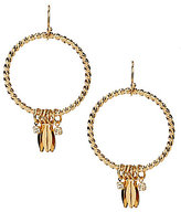 Anna & Ava Richard Dangling Leaf Hoop Earrings