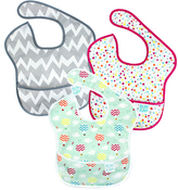 Bumkins Blue Clouds SuperBib - Set of Three