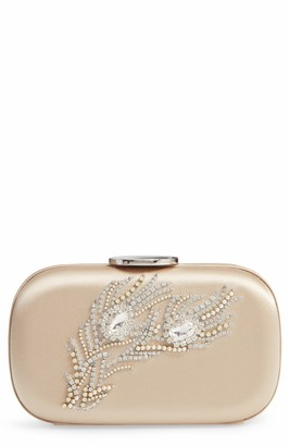 Giambattista Valli Crystal Embellished Satin Clutch