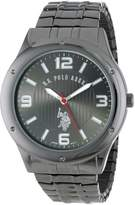U.S. Polo Assn. Men's Oversized Gun-Metal Dial Expansion Watch USC80015