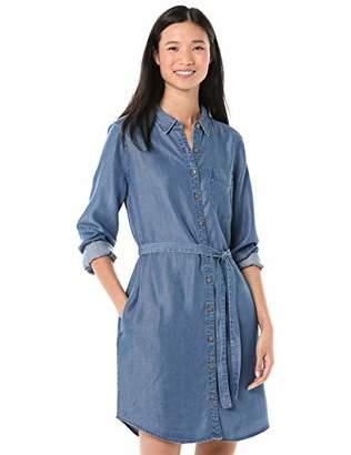 Goodthreads Tencel Long-Sleeve Shirt Dress Casual,S