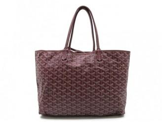 Goyard Saint-Louis Burgundy Cloth Handbags