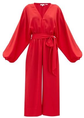 Rhode Resort Blake Wide-leg Crepe Jumpsuit - Womens - Red