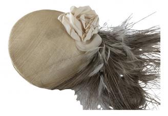 Philip Treacy White Linen Hats