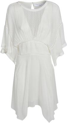 IRO Polka-dot Asymmetric V-neck Dress