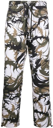 Diesel Abstract Camouflage Print Trousers