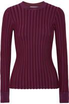 Altuzarra Regan Ribbed Stretch-knit Sweater - Grape