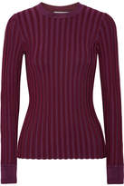 Altuzarra Regan Striped Stretch-knit Sweater - Grape