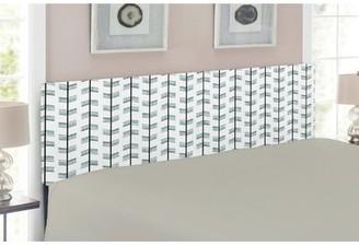 East Urban Home Arrow Queen Upholstered Panel Headboard Size: Queen