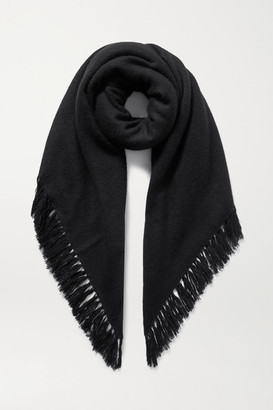 Isabel Marant Zila Fringed Cashmere And Wool-blend Scarf - Black