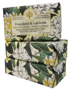 Gardenia Wavertree & London Frangipani and Soap with Pack of 3, Each 7 oz