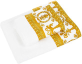 Versace Barocco & Robe Towel - White/Gold - Bath Towel