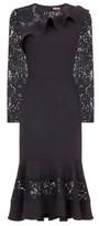 Dorothy Perkins Womens Chi Chi London Black Long Sleeve Bodycon Dress, Black