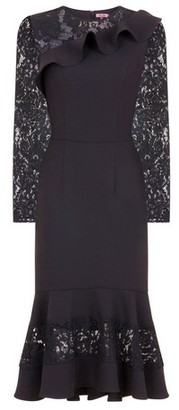Dorothy Perkins Womens *Chi Chi London Black Long Sleeve Bodycon Dress, Black