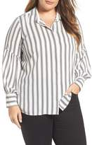 Vince Camuto Plus Size Women's Stripe Puff Sleeve Blouse