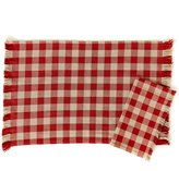 Southern Living Harvest Fringed Buffalo Check Table Linens