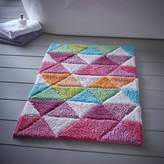 Kaleidoscope Triangles Bath Mat