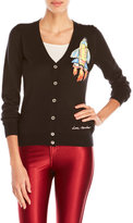 Love Moschino V-Neck Rocket Ship Cardigan