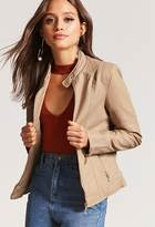 Forever 21 Channel Quilted Faux Leather Jacket