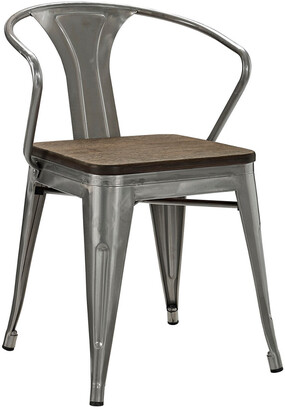Modway Promenade Bamboo Steel Dining Chair