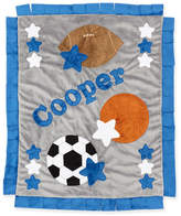 Boogie Baby Good Sport Plush Blanket, Gray/Blue