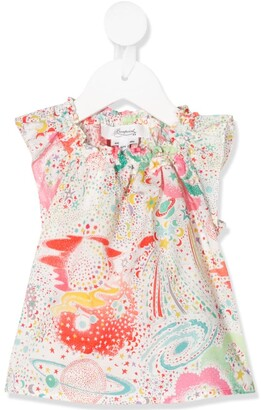 Bonpoint Graphic Print Sleeveless Blouse