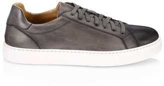 Saks Fifth Avenue COLLECTION BY MAGNANNI Burnished Leather Lace-Up Sneakers