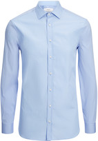 Poplin And Poplin Stretch Cecil Shirt In Blue