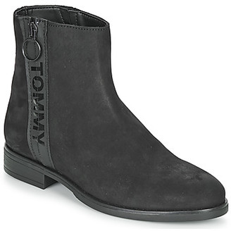 Tommy Jeans ZIP FLAT BOOT women's Mid Boots in Black