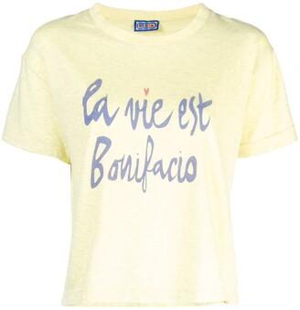 Lhd la vie est Bonifacio print T-shirt