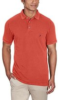French Connection Men's Simple Garment Dye Short Sleeve Polo