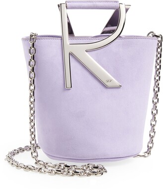 Roger Vivier Mini Suede Bucket Bag Handbag